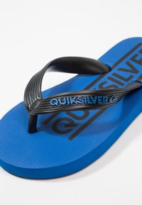 Quiksilver - JAVA WORDMARK - Varvassandaalit - black/blue - 2