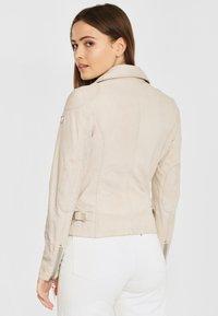 Gipsy - PGG LABAGV - Leather jacket - off white - 2