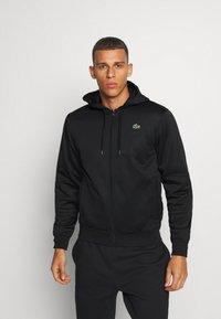 Lacoste Sport - TECH HOODIE - Zip-up hoodie - black - 0