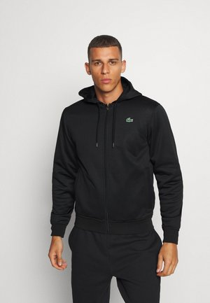 TECH HOODIE - veste en sweat zippée - black