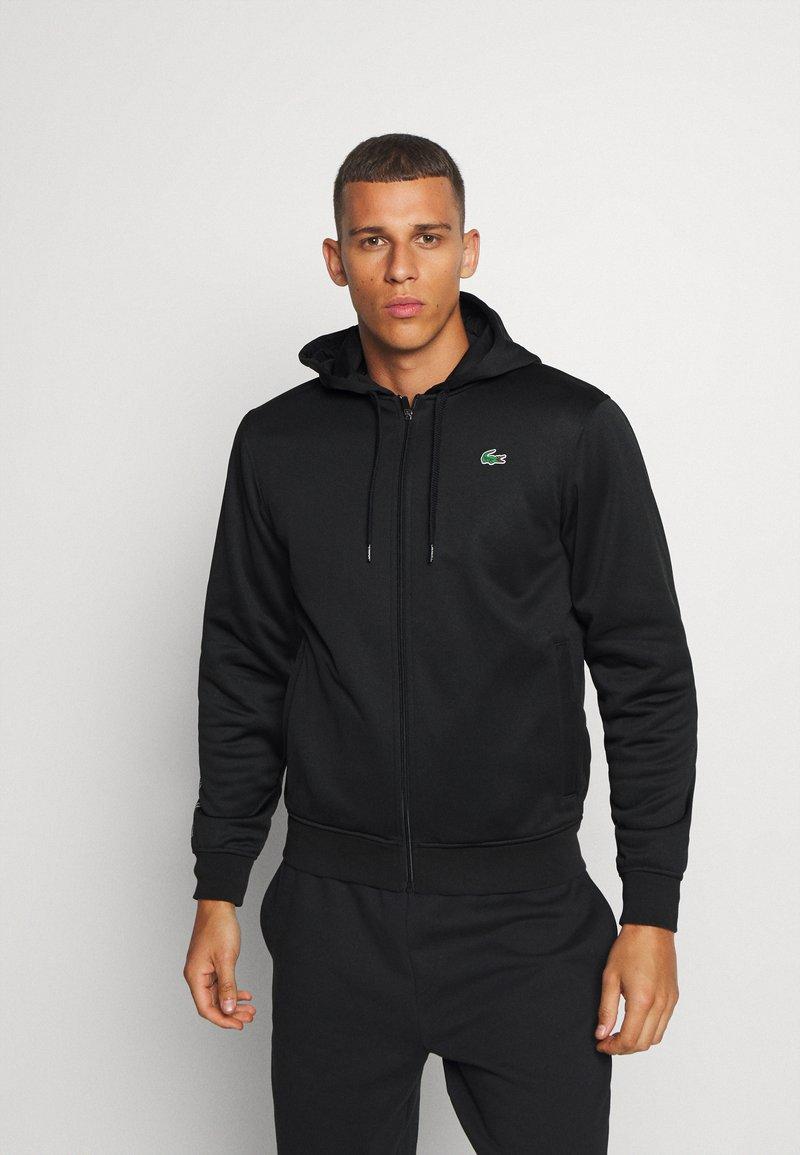 Lacoste Sport - TECH HOODIE - Zip-up hoodie - black