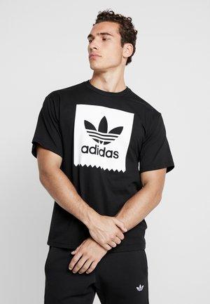 SOLID - Camiseta estampada - black/white