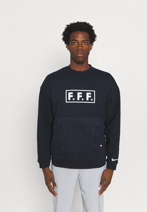 FRANKREICH FFF QUEST CREW  - Sweatshirt - dark obsidian/white
