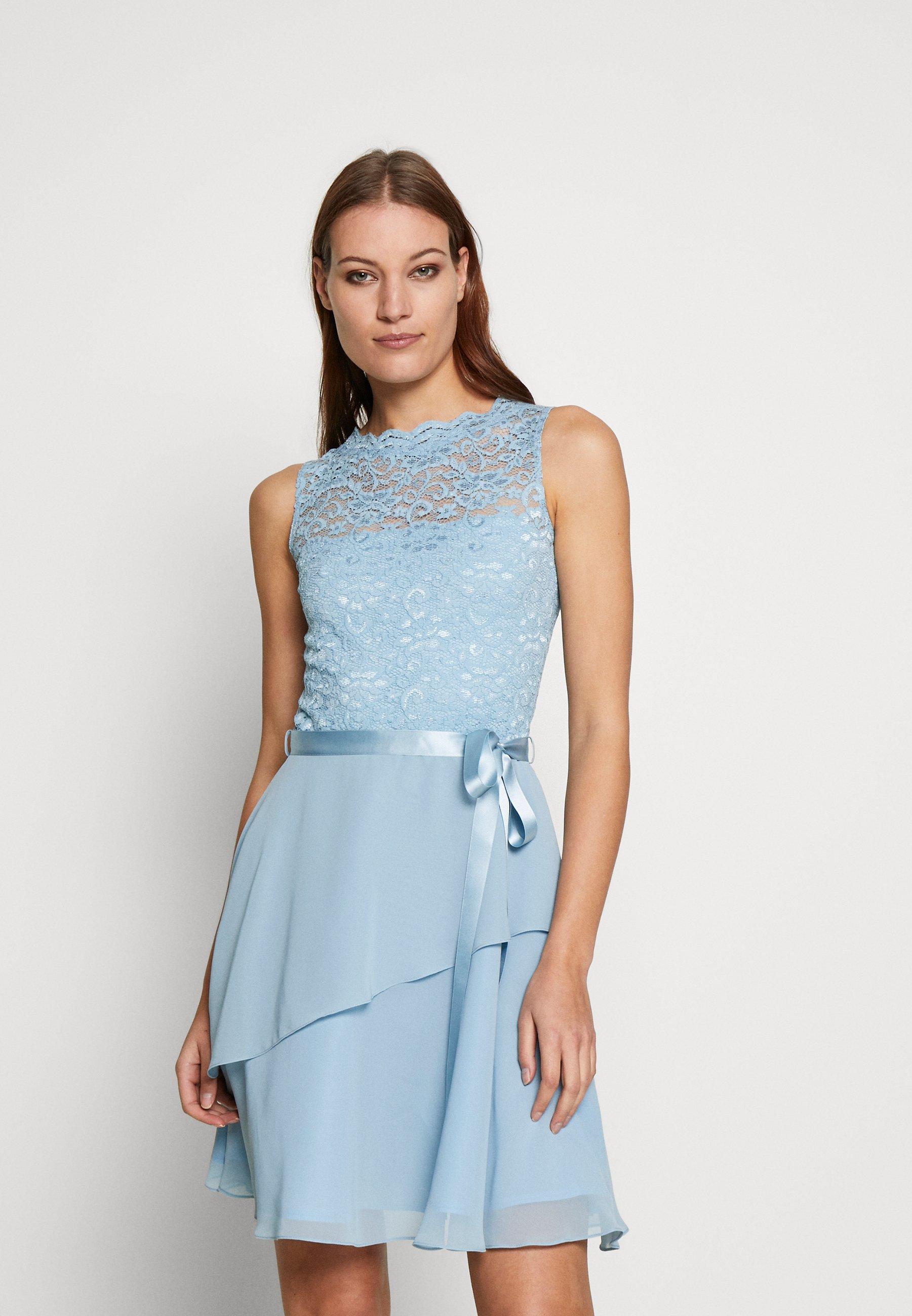 Swing Cocktailkleid Festliches Kleid Hellblau Zalando De