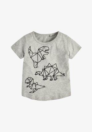 GEO DINO - Print T-shirt - grey