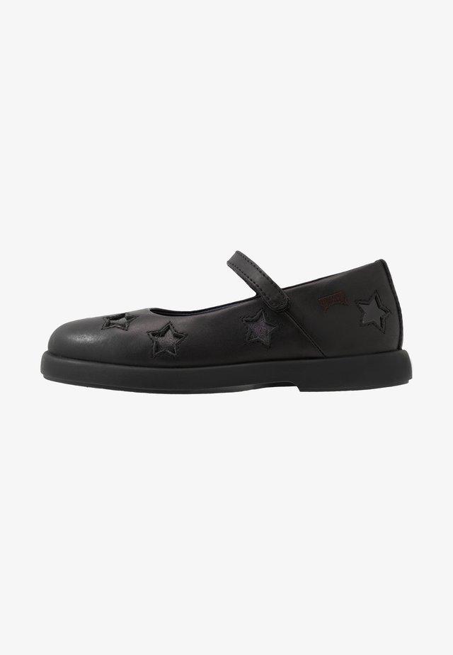 TWINS - Ankle strap ballet pumps - black