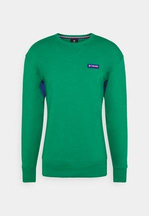 BUGA CREW - Sweater - emerald green/lapis blue