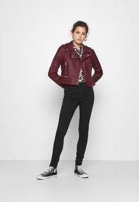Morgan - GRAMMO - Faux leather jacket - bordeaux - 1