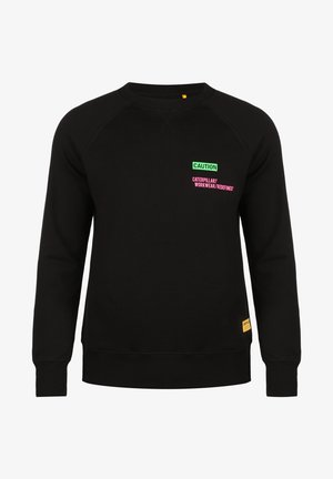 CATERPILLAR CATERPILLAR CAUTION ROUNDNECK SWEATSHIRT HERREN - Sweatshirt - black