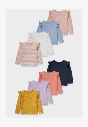 8 PACK - Long sleeved top - white / rose