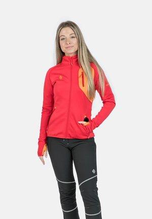 Veste polaire - red/orange