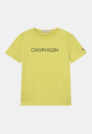 INSTITUTIONAL - Print T-shirt - yellow