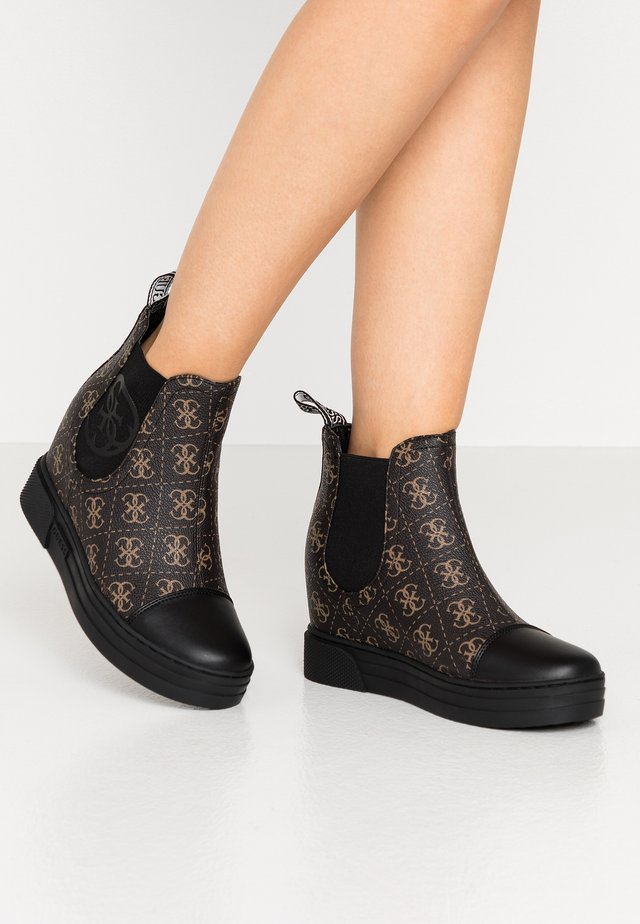 FRENZE - Ankle boot - brown/ocra