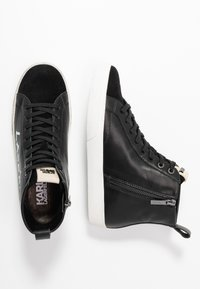 KARL LAGERFELD - SKOOL BRUSH LOGO  - Sneaker high - black - 3