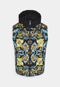 Versace Jeans Couture - CRINKLE  - Waistcoat - black - 8