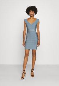 Hervé Léger - SWEETHEART CAP ICON DRESS - Shift dress - abalone - 0