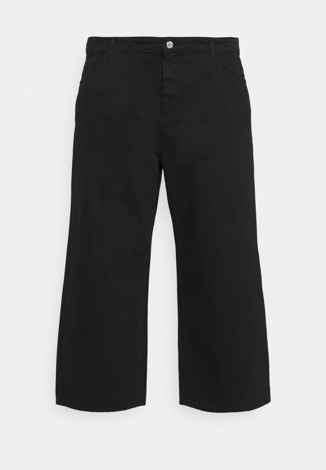 NMAMANDA WIDE ANKLE - Jeans baggy - black