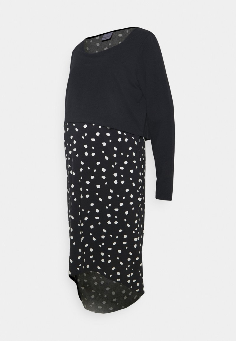 Mamalicious Curve - MLARIANNA DRESS  - Jersey dress - salute / snow white