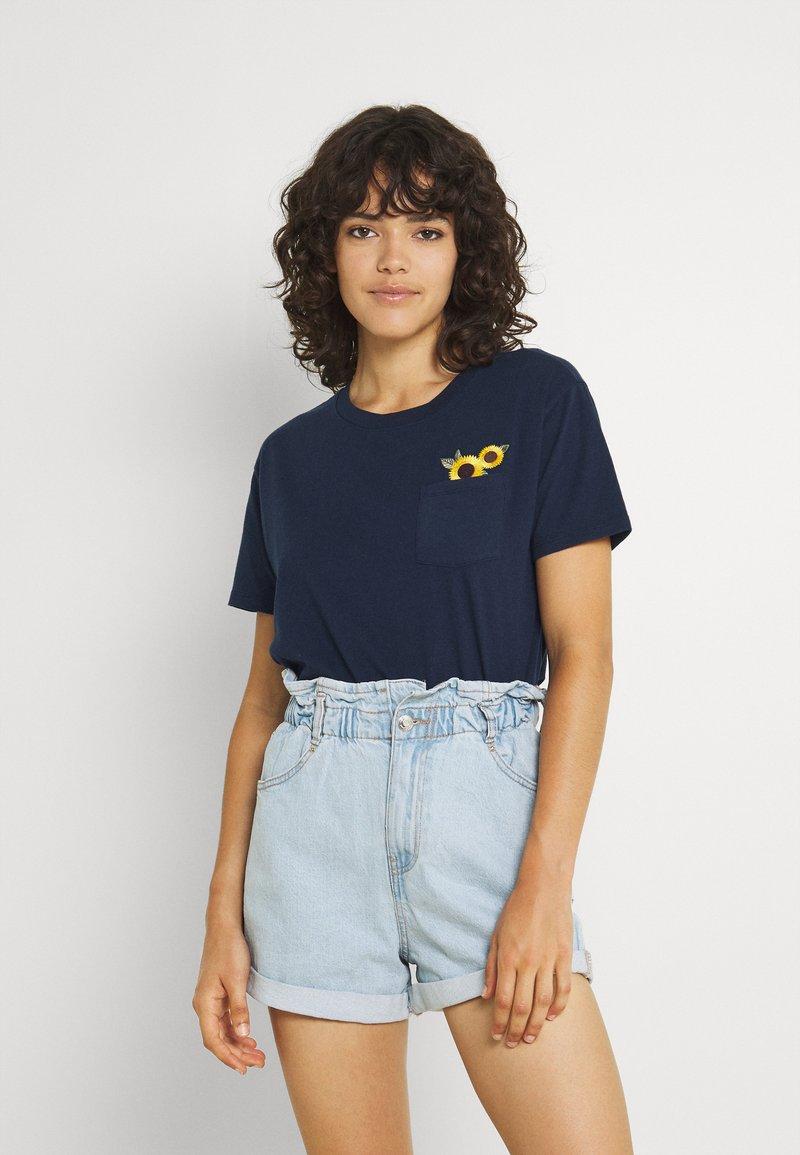 Hollister Co. - Basic T-shirt - navy