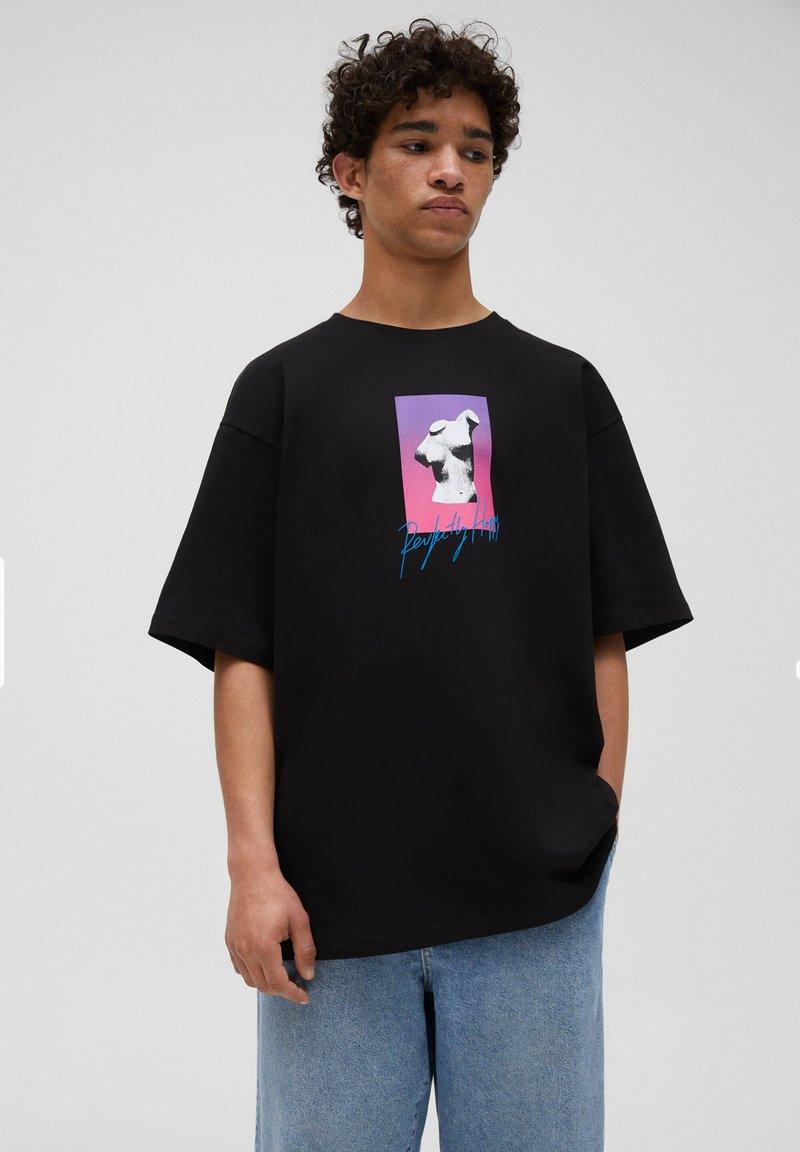 PULL&BEAR - T-shirts print - black