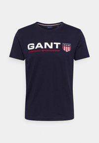 GANT - RETRO SHIELD - Print T-shirt - classic blue - 0