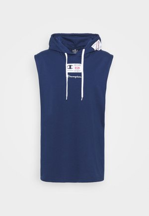 HOODED SLEEVELESS - Débardeur - dark blue
