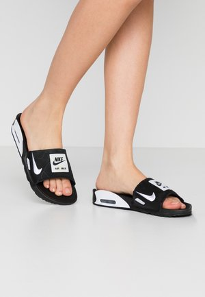 NIKE AIR MAX 90 DAMEN-SLIDES - Pool slides - black/white