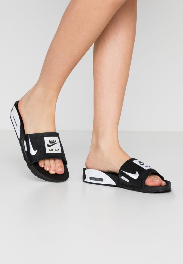 NIKE AIR MAX 90 DAMEN-SLIDES - Chanclas de baño - black/white