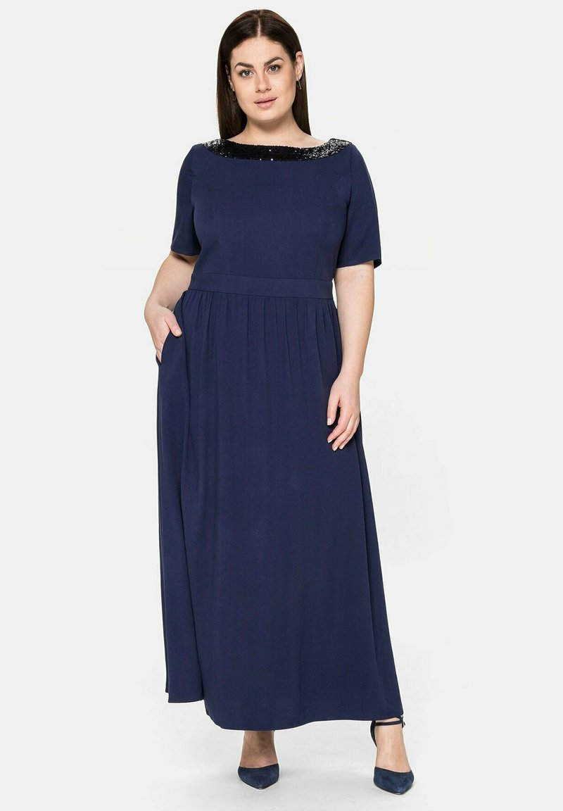 Sheego - Maxi dress - marine
