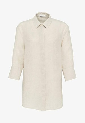 FYTHON RAW - Button-down blouse - beige