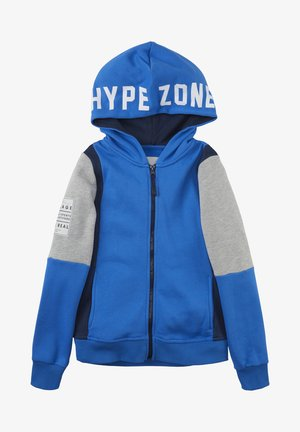 Zip-up hoodie - strong blue|blue