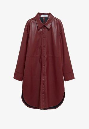 Shirt dress - granátová