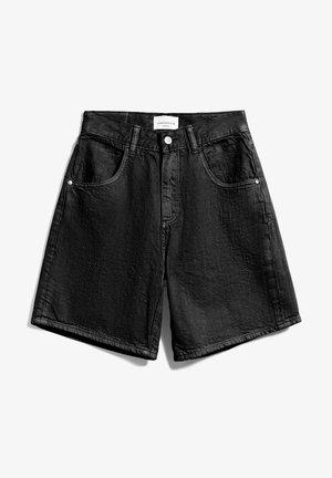 FREYMAA - Denim shorts - washed down black