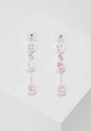 TROY LONG EAR - Earrings - silver-coloured/light pink