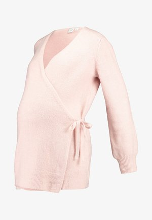 SIDE TIE WRAP - Cardigan - pink