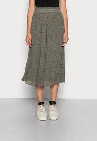 Selected Femme - SLFGAIA MIDI SKIRT - A-line skirt - kalamata - 0