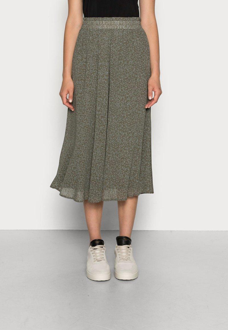 Selected Femme - SLFGAIA MIDI SKIRT - A-line skirt - kalamata
