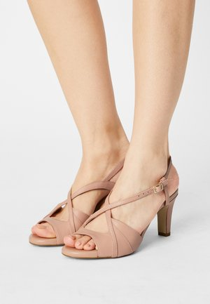LEATHER - Sandals - beige
