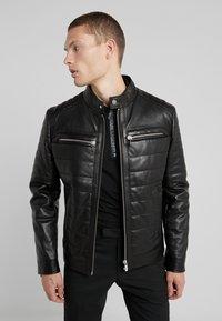KARL LAGERFELD - BIKER JACKET - Leather jacket - black - 0