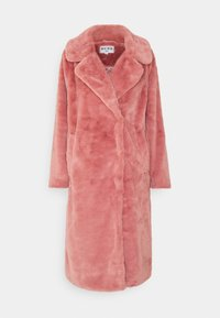 NA-KD - FAUX FUR COAT - Klasický kabát - dusty rose - 4