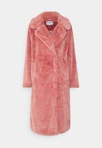 FAUX FUR COAT - Classic coat - dusty rose