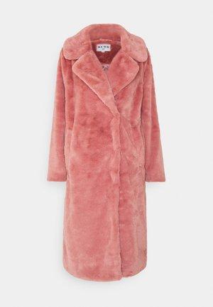 FAUX FUR COAT - Cappotto classico - dusty rose
