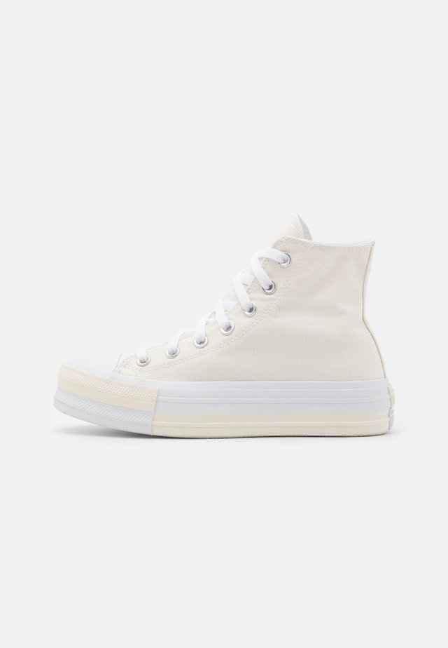 CHUCK TAYLOR ALL STAR DOUBLE STACK LIFT - Høye joggesko - egret/university red/white