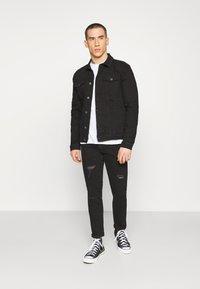 Denim Project - KASH JACKET - Giacca di jeans - black dot - 1