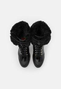Love Moschino - RUBBER CAP - Enkellaarsjes met hoge hak - black - 4