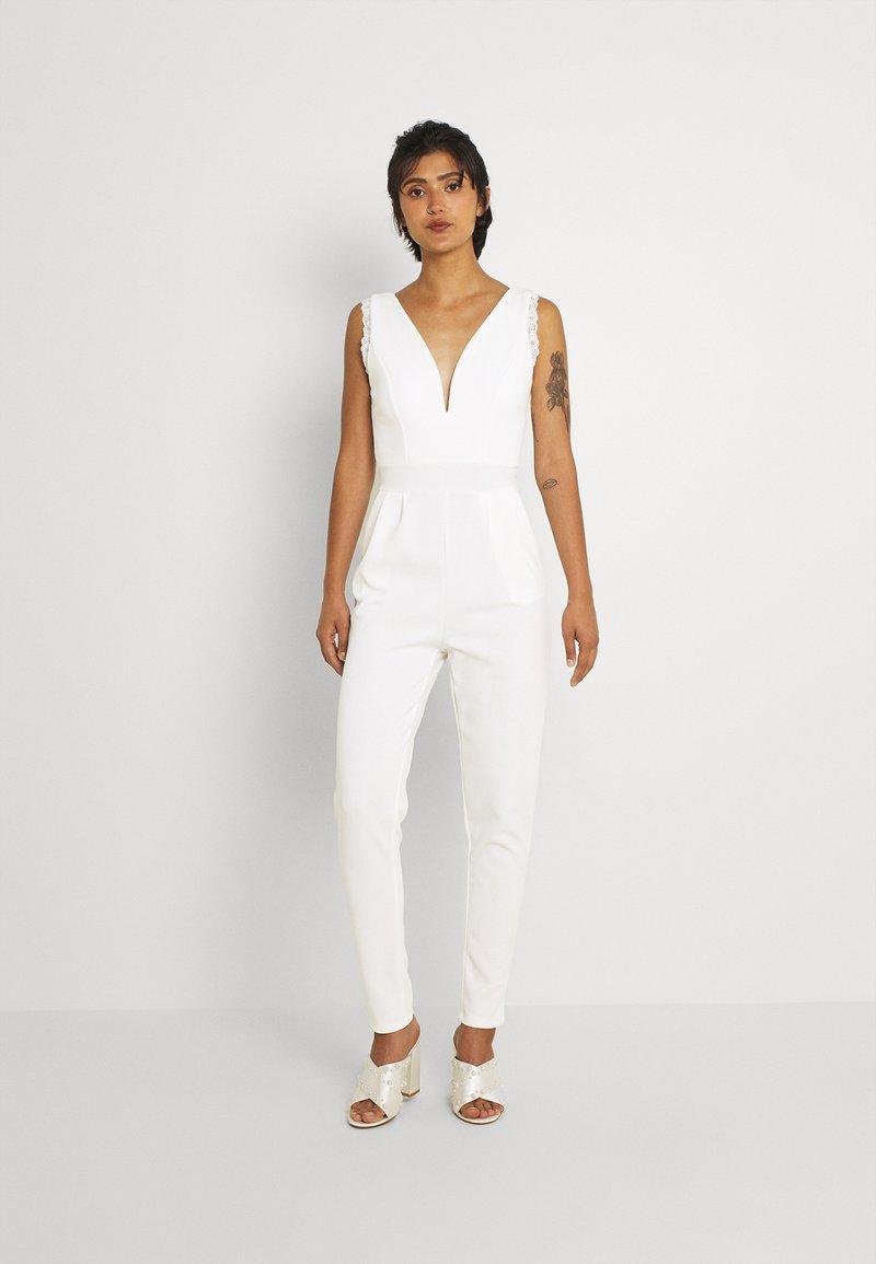 WAL G. - NIKKI V NECK - Jumpsuit - white