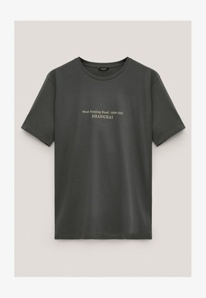 KURZÄRMELIGES MIT SLOGAN - Print T-shirt - green
