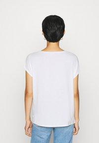 QS by s.Oliver - KURZARM - Basic T-shirt - ecru - 2