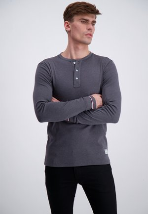 Long sleeved top - dk grey mel