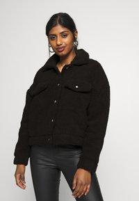 Dr.Denim Petite - PIXLEY PILE JACKET - Winter jacket - black - 0